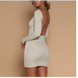 NEW Sparkle Backless Sexy Dress Medium
